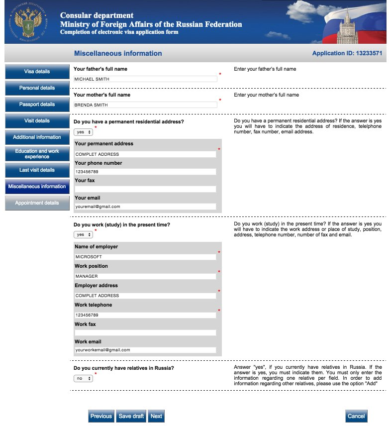 Online Russian Visa Application Without 61