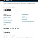 Safety and security in Rusia - UK Goverment
