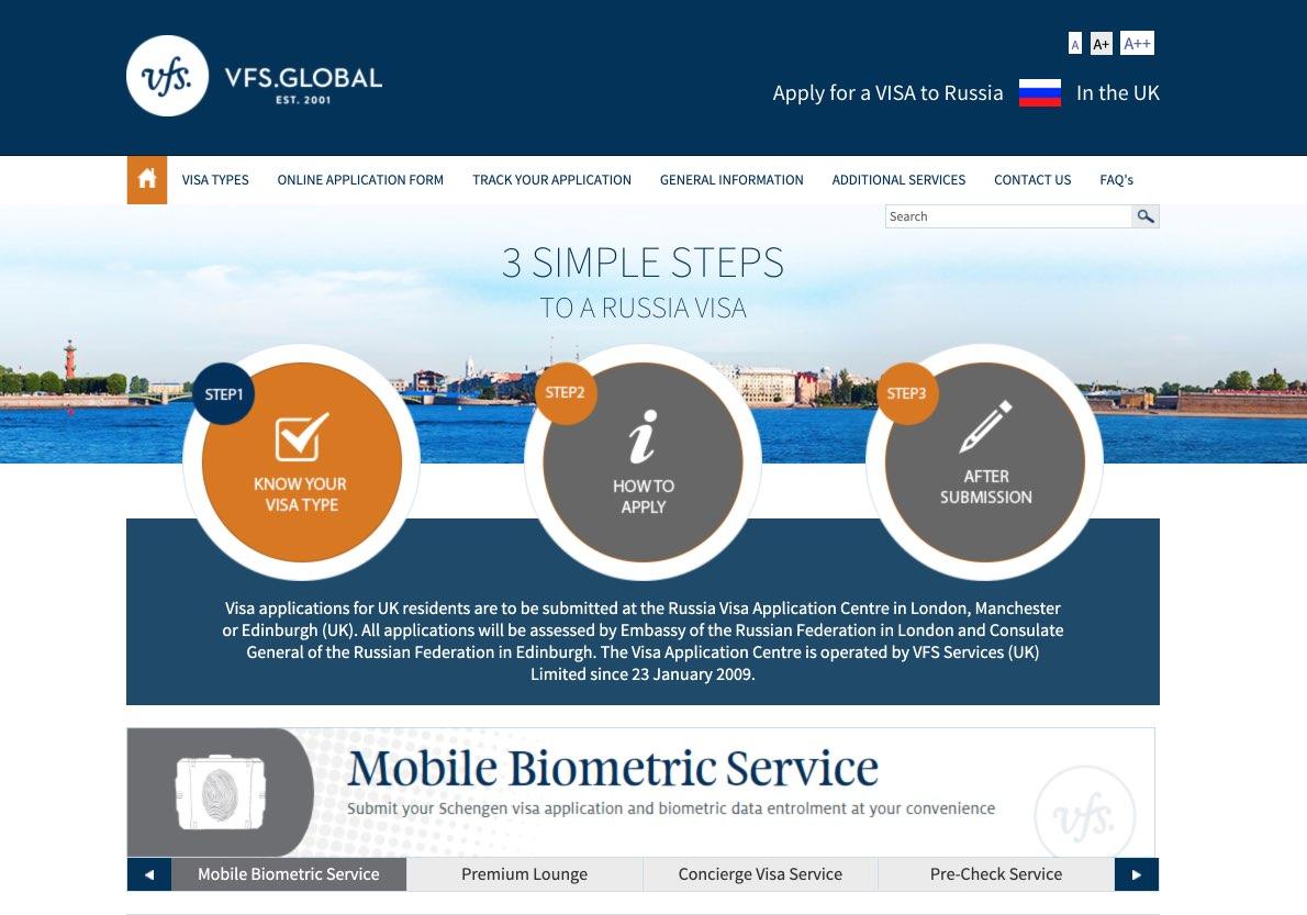 Russia Visa Information in UK