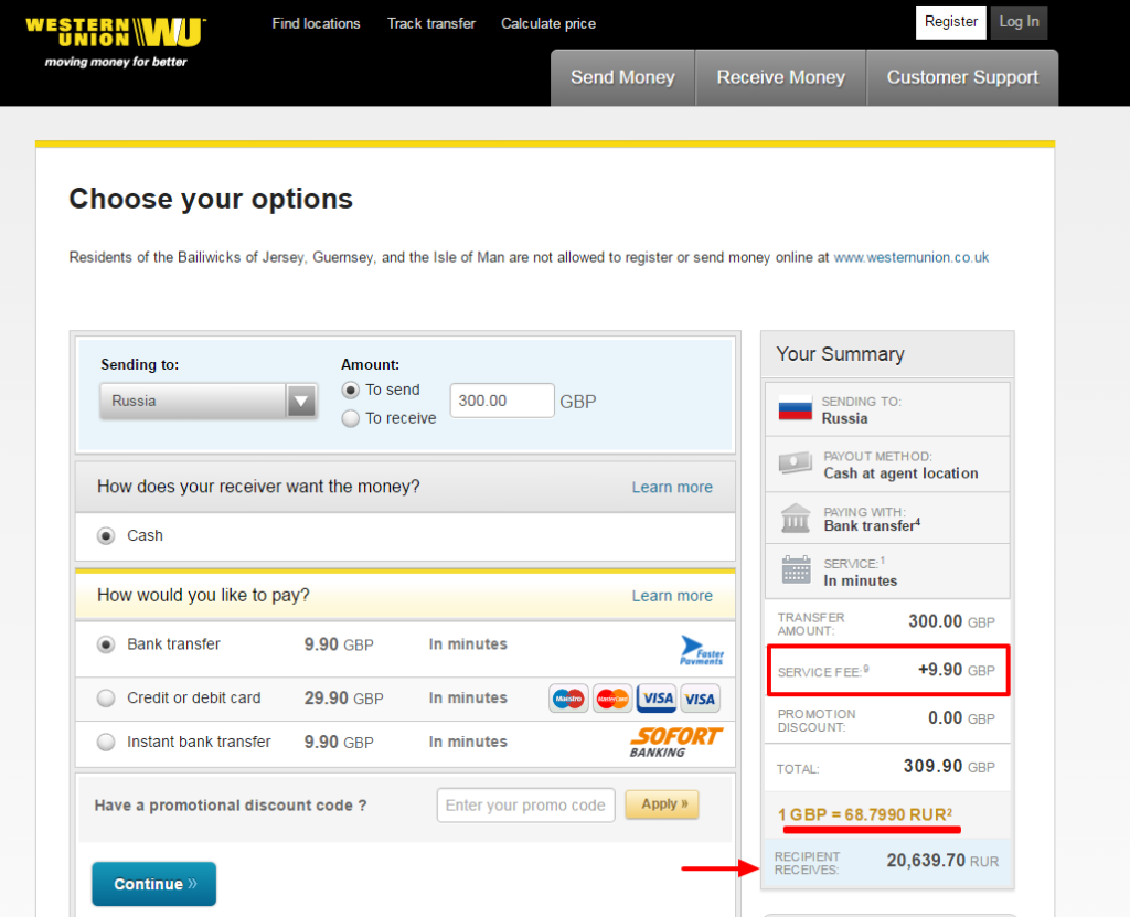 How to send money to Russia: WesternUnion, PayPal or
