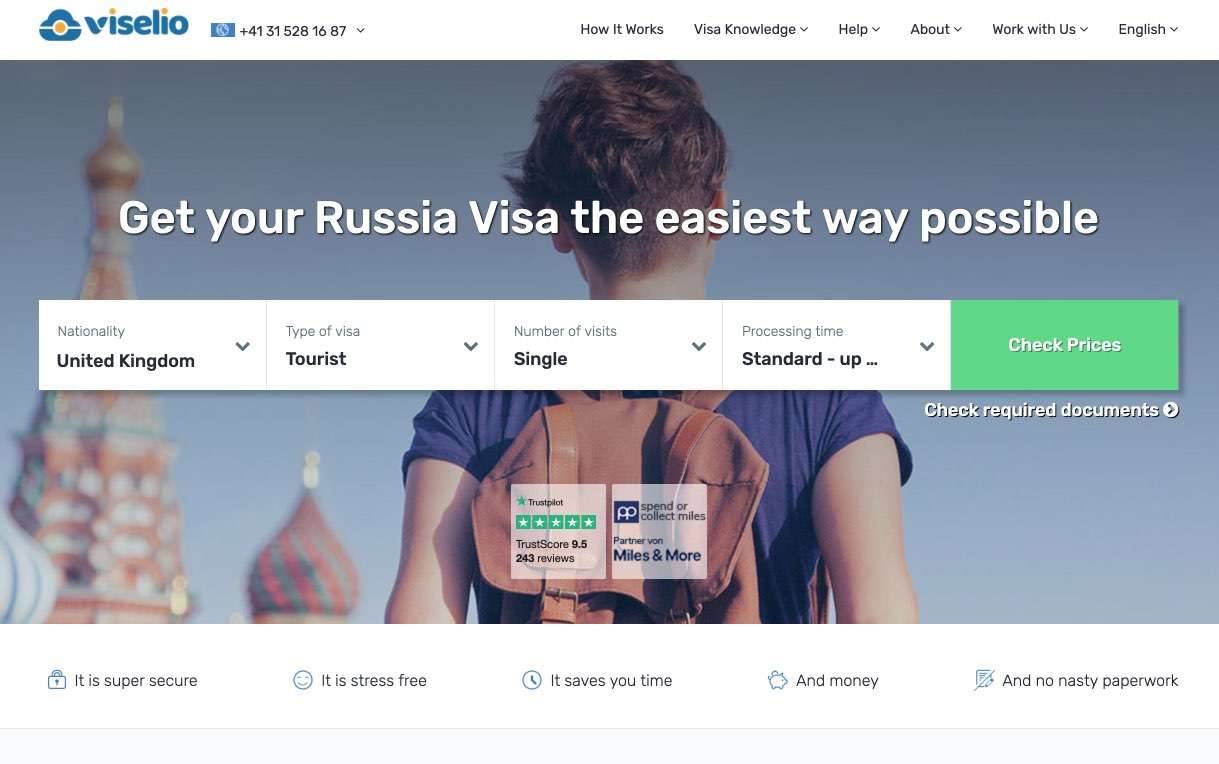 Russian Visa Online - Get your visa quickly | Viselio Agency for Russian Visas in UK